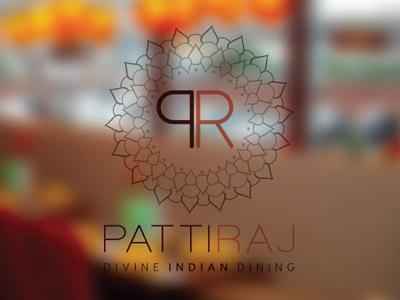 Indian Restaurant Logo - Patti Raj, Swansea UK logo design brand identity indian restaurant indian restaurant branding