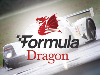 Logo Design For Motorsport Competition - Formula Dragon logo design brand identity design motorsport logo motor racing logo design