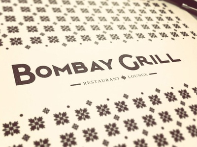 Bombay Grill Logo pattern restaurant identity brand branding logo