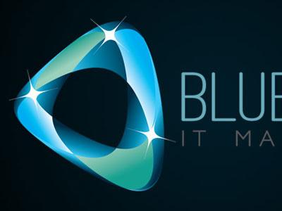 Blueglow IT Management   Logo Concept logo inspiration logo it blue orb computers glow torfaen graphic design cwmbran