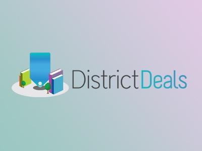 District Deals Logo logo deals brand identity vouchers district book city pricetag