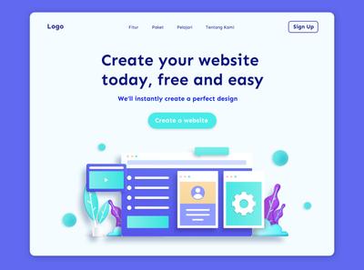 Web Generator Landing Page landing page web design minimalist clean ux design web ui
