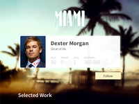 Even Dexter has a profile  :)