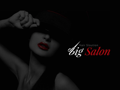 Salon Logo red dark black nail hair spa barber shop barber beauty salon