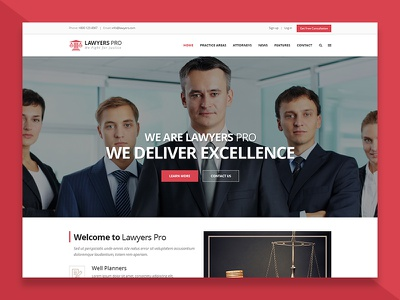 Lawyers & Attorneys WordPress Theme solicitor legal adviser legal lawyer law firm law consultant company law barrister attorney advocate court