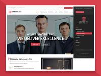 Sidebar Menu Design - Law WordPress Theme