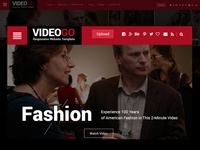 Video Magazine Template Homepage