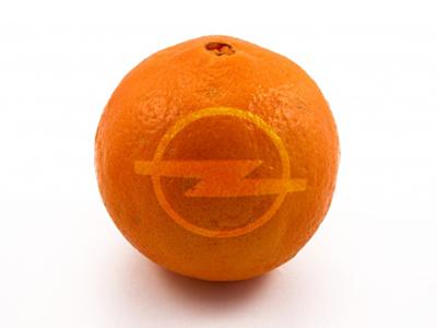 Opel + Orange = ОПЕЛЬСИН! orange opel branding fun crazy