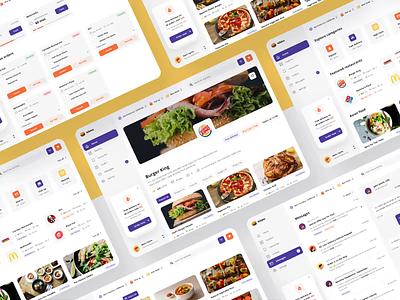 Nibble Web I design for web ui kit food delivery app web app ui web app ui kit for web web ui kit food delivery web design ux responsive design web ui ui for web design uiux ui product design digital design