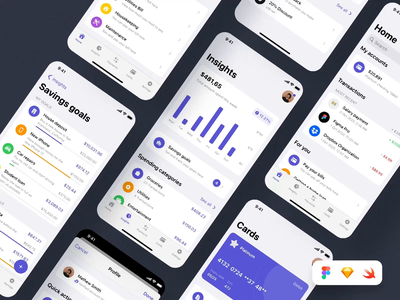 Swift Finance: iOS 14 App Kit I ui for ios mobile app ui for ios mobile app mobile app ui ios app ios app design human interface guidelines design for ios mobile design ios ios ui ui for mobile design uiux ui product design digital design