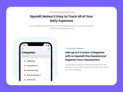 Spendit - Marketing Website web design marketing website landing page mobile app ui for web web ui ios app design ios app design uiux ui product design digital design