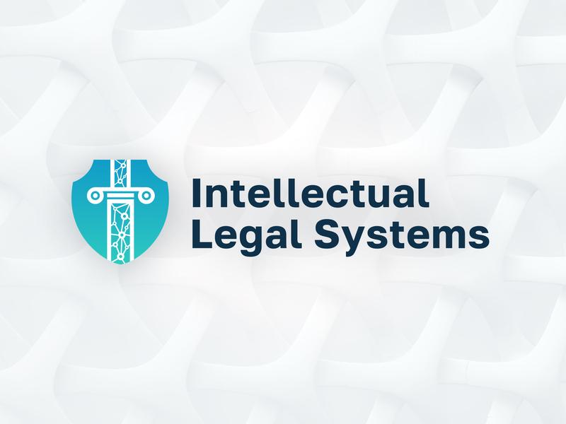 Intellectual Legal Systems design logotype branding blockchain court law law logo logo lawyer