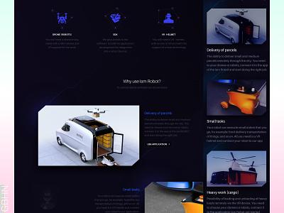 iamRobot inspiration 2d website landing page promo interaction dark design logo illustration design sketch 3d expirience ui kit interface ux ui