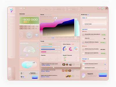T0N Finance Dashboard block widget graphic design admin panel dashboarding dashboard finance user morphism neomorphism logo illustration design sketch 3d expirience ui kit interface ux ui
