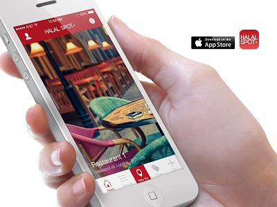 Halal Spot App halal app iphone ui mobile design