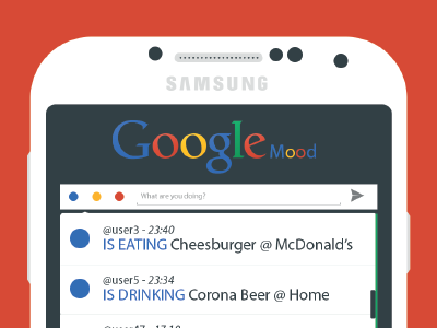 Google Mood google mood android app design ui colors red