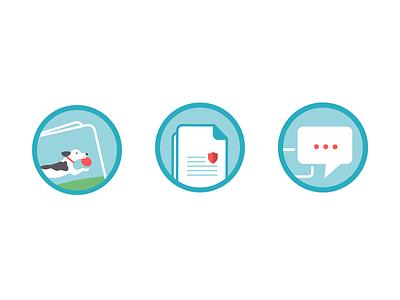 Feature Illustrations minimal dog icons illustrations