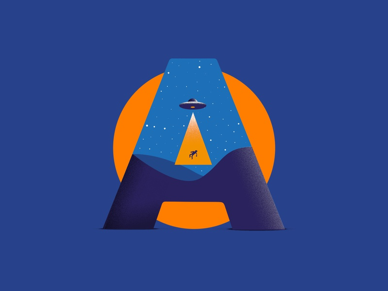 A means Aliens design minimal vector illustration 36daysoftype07 36daysoftype