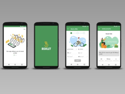 BISIKLET Bicycle Booking App uxresearch ux design ux interaction design