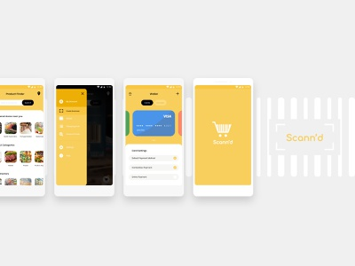 Scann'd uxdesign uiux ux uidesign ui wallet store shoppinglist lists scan pay grocerystore grocery app shopping