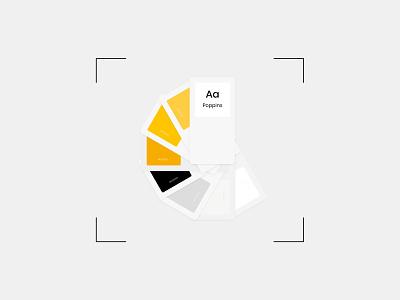 Grocery App - Colour Palette color colourscheme poppins white grey black yellow design ui app grocery app grocery palette colour palette colour