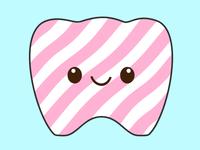 Kawaii tooth