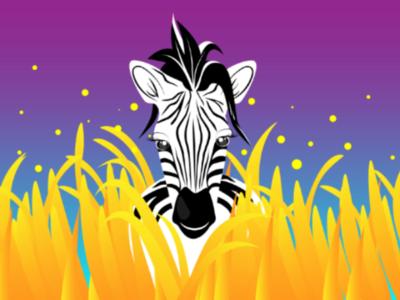 Zebra wildlife zebra illustrator gradient illustration