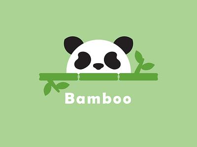 Panda Bamboo dailylogo logo dailylogodesign dailylogochallenge