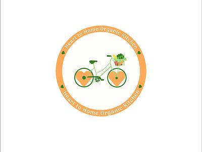 Heart to Home Organic Kitchen organic food logo food delivery logo illustrator dailylogodesign dailylogo dailylogochallenge