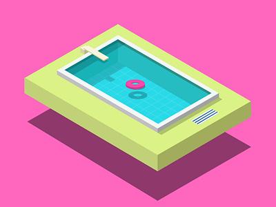Isometric Pool isometric pool illustration isometric
