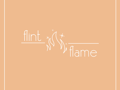 Flame Logo Flint and Flame illustrator logo dailylogo dailylogochallenge dailylogodesign
