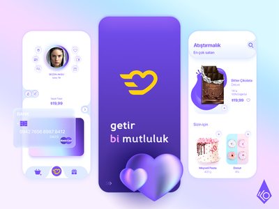 Getir Mobile Application Rebranding Concept snack food design application uiux delivery app getir mobile app