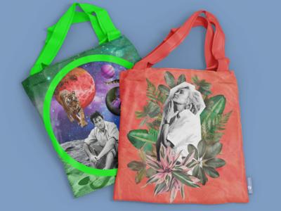 More Tote Bags designs accessory bag bags tote bag totebag illustration design collage celebrity