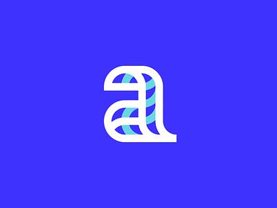 a symbol app logo software identity line logodesigner symbol logodesign startup app icon app a letter logo