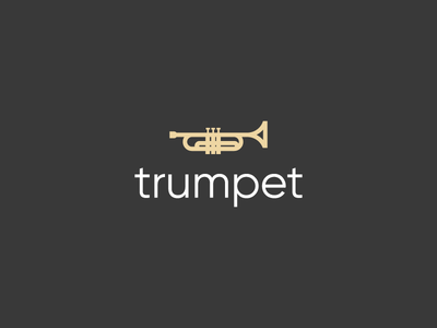 Trumpet logo logo brand identity instrument harmony reggae funk jazz horn trumpet music logo music brass