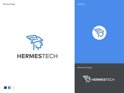 Hermes Tech logo software delivery company web application connecting network digital platform application startup logo startup app icon branding app logodesigner logodesign logo