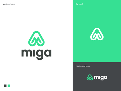 Miga logo green logo branding logo designer modern logo logo design marketing company logo brand development brand strategy clean minimal logo digital marketing logo simple animal logo fly miga