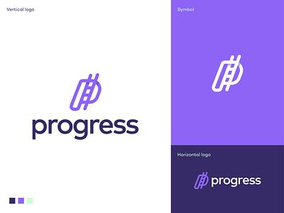 Progress logo saas logo app icon letter p ladder letter p ladder simple creative logo investment climbing ladder inovation tech startup logo logodesign logo growth progress
