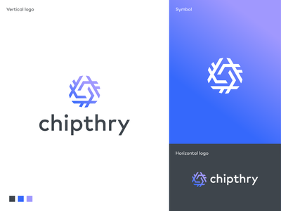 Chipthry logo identity app icon software branding mark logodesigner symbol logodesign logo software app icon saas logo design abstract symbol