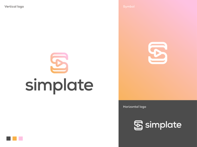 Simplate unused logo proposal identity software app icon logo app icon online content creators customized video templates enterprise app content creation ad agency branding logodesigner logodesign symbol