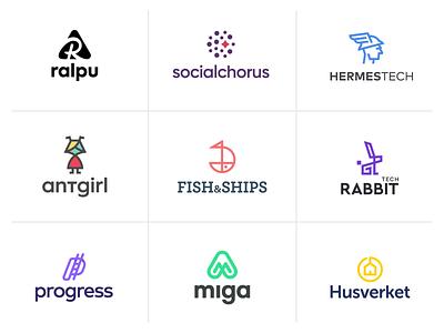 Top 9 of 2020 modern logo mountain deam house digital marketing progress rabbit fish colors web application logo software company rebranding outdoor top 9 brand identity logo logodesign