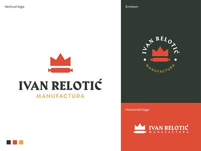 Ivan Relotic logo meat vojvodina king kulen branding crown logodesign logo nature food sausage emblem