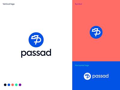 Passad logo proposal impact-tech cms sme saas flag logo identity branding logodesigner logodesign hub sustainability tech startup startup b2b wind passad