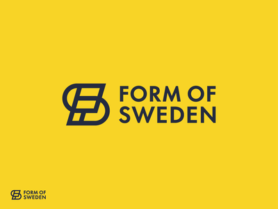 Form of Sweden logo design proposal simple clean minimal modern logo design furniture nordic sweden scandinavia identity branding logodesigner mark symbol logo logodesign
