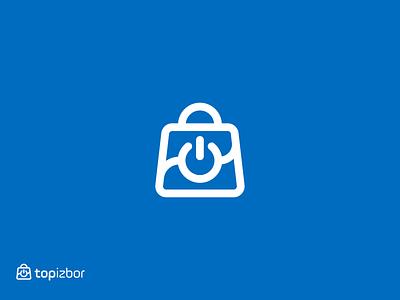 Top Izbor symbol redesign redesign shopping eshop bag products e-commerce blue electronics technology shopping bag branding logodesigner mark symbol logodesign logo
