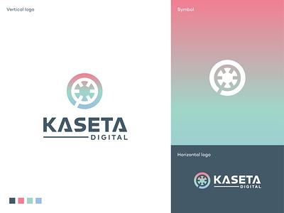 Kaseta Digital visual identity design brcko bosnia record label digital platform youtube spotify distribution music logo digital cassette branding logodesigner mark symbol logodesign logo