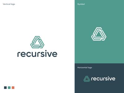 Recursive logo social equity environmental conservation global society emergent technologies machine learning innovative sustainable solutions tech company logo innovative technology japan sustainability branding logodesigner symbol logodesign logo artificial intelligence ai technology consulting company recursive
