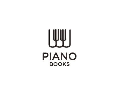 Piano Books page white symbol music mark logo keys black book piano