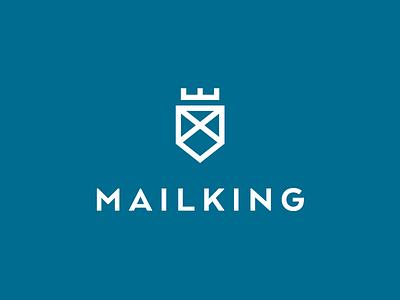 Mail King logodesign mark logo letter crown king mail