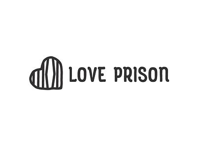 Love Prison relationship bars jail symbol mark logo heart prison love